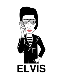 Elvis with Cellphone