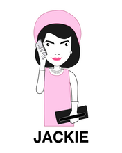 Load image into Gallery viewer, JACKIE ONASSIS WITH MOBILE White T-Shirt