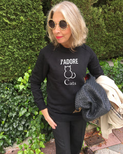 Launch Offer J'ADORE CATS Black Sweatshirt
