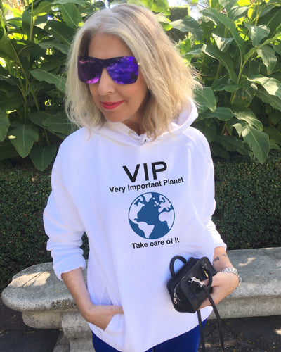 Launch Offer VIP VERY IMPORTANT PLANET White Hoodie