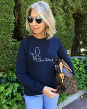 Load image into Gallery viewer, AUDREY SIGNATURE French Navy SweatShirt