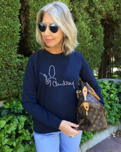 AUDREY SIGNATURE French Navy SweatShirt