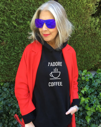 Special Price J'ADORE COFFEE Black Hoodie