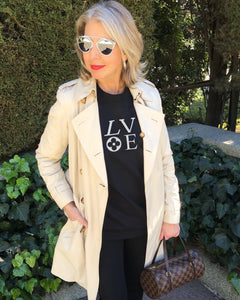 LV LOVE Black Sweatshirt