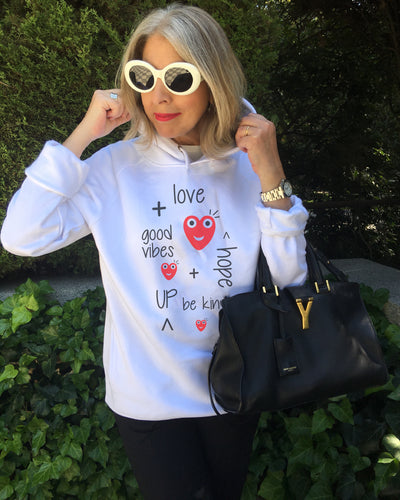 Launch Offer LOVE UP! White Hoodie