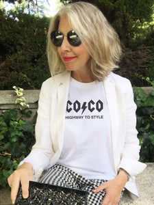 COCO AC/DC STYLE White T-shirt