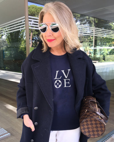 LV LOVE French Navy Sweatshirt