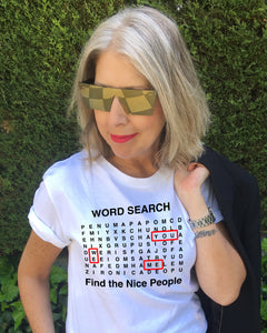 Word Search Nice People T-Shirt