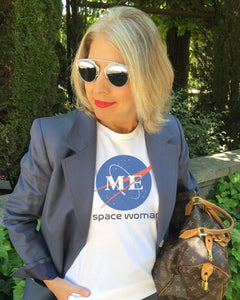 SPACE WOMAN White T-Shirt