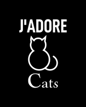 Load image into Gallery viewer, J'ADORE CATS Black T-Shirt