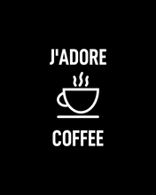 Load image into Gallery viewer, J'ADORE COFFEE Black T-Shirt