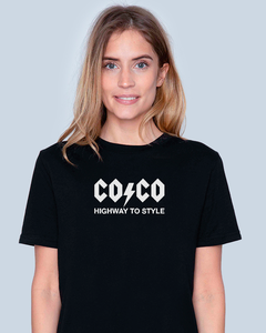 Black Friday Deal COCO, AC/DC STYLE Black T-Shirt