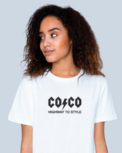 Load image into Gallery viewer, COCO AC/DC STYLE White T-shirt
