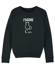 Load image into Gallery viewer, Launch Offer J'ADORE CATS Black Sweatshirt