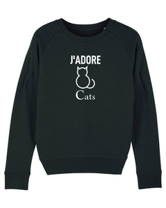 J'ADORE CATS Black Sweatshirt