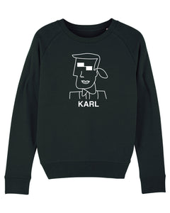 KARL CUBIST Black Sweatshirt