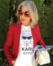 Load image into Gallery viewer, KARL EMOJI White T-Shirt
