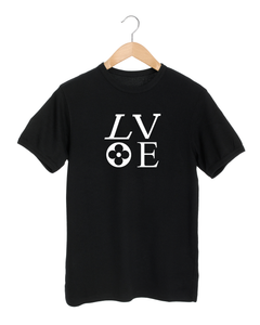 LV LOVE Black T-Shirt
