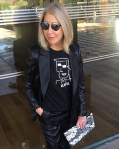 KARL CUBIST Black T-Shirt
