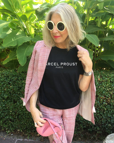 MARCEL PROUST PARIS Black T-Shirt