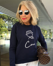 Load image into Gallery viewer, COCO SIGNATURE ONLY NAME French Navy Sweatshirt