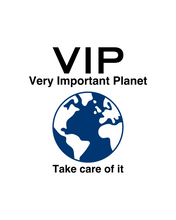 Load image into Gallery viewer, VIP VERY IMPORTANT PLANET White T-Shirt