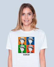 Load image into Gallery viewer, COCO INSPIRED BY WARHOL White T-Shirt