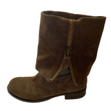 Nine West Vintage America Brown Suede Boots Size 7.5