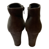Aldo Grey Suede Booties Size 7