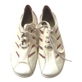 Portofino White Patent Leather Sneakers with Pink Accents Size 7