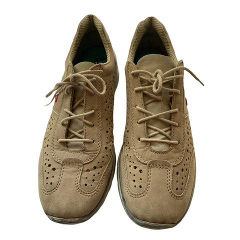 Rieker Tan Suede Sneakers with Memory Foam Insoles Size 10