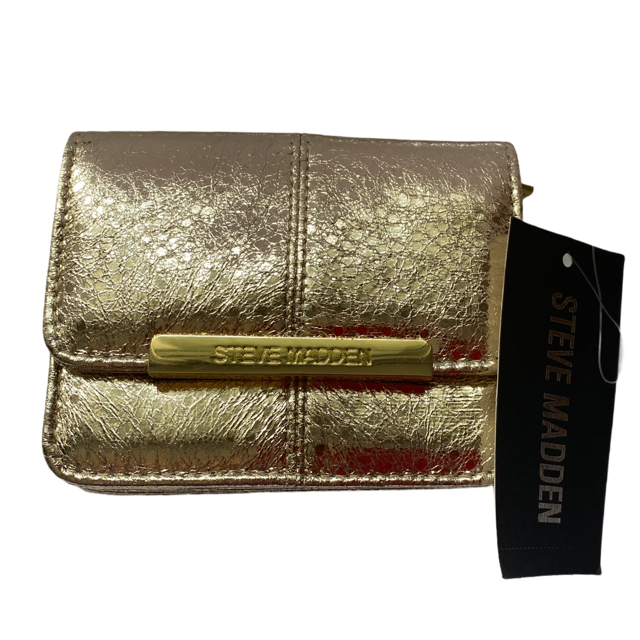 Steve Madden Gold Accordion Wallet