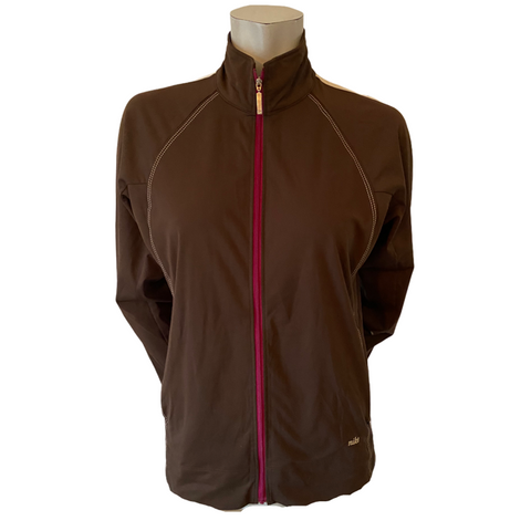 Nike Brown Athletic Jacket Size Small (6)