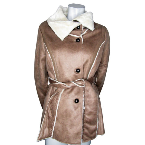 Point Zero Faux Shearling Coat Size Small (6)