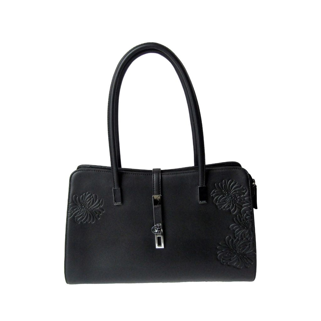 Susen Black Vegan Leather Handbag