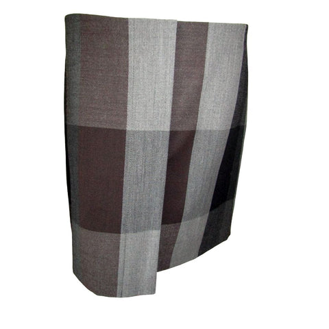 Blacky Dress Berlin Brown and Grey A Line Wool Blend Skirt Size Medium (8)