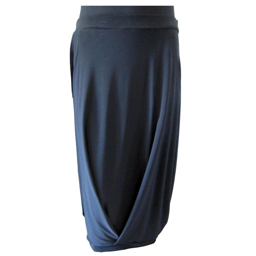 Sympli Black Midi Skirt Size Medium (10)