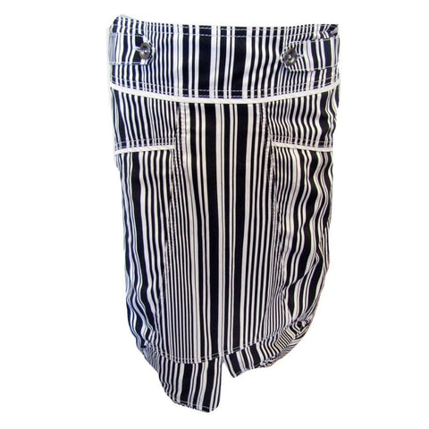 Crisca Black and White Striped Skirt Size Small (6)