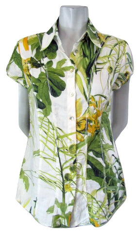 Apanage Daffodil Print Blouse Size Small (6)