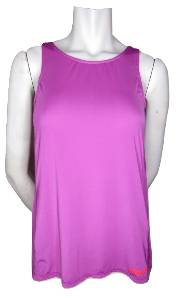 Bench Magenta Semi Sheer Tank with Draped Back Size Small