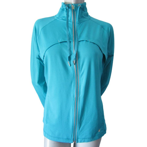 Champion Turquoise Fitted Athletic Jacket Size Medium (8)