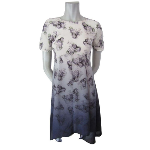 Dorothy Perkins Purple Ombre Floral Dress Size Extra Small (2)