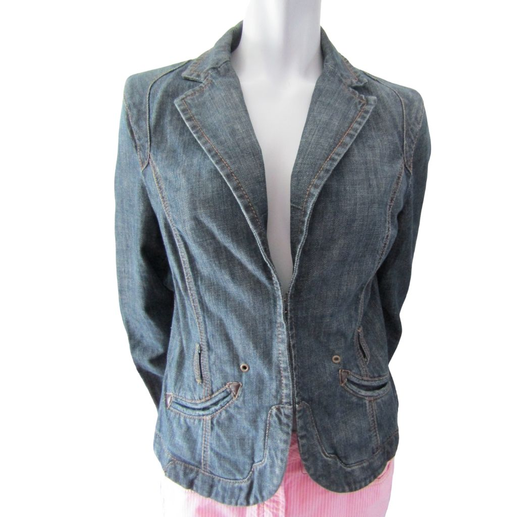 Authentic Esprit de Corp Denim Blazer Size Medium (10)
