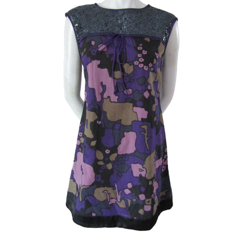 French Connection Purple Minidress with Sequins Size Small (6)