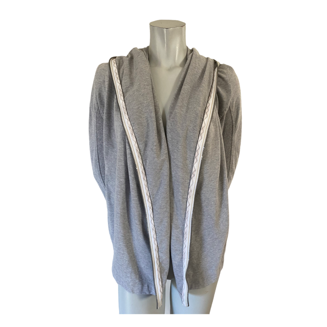 Marc Cain Sports Grey Open Hooded Cardigan Size N2 (Small )