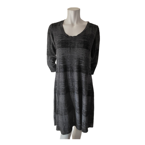 Cut Loose Black and Grey A Line Casual Dress Size Small (6)