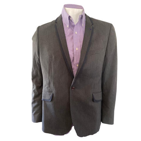 Ted Baker Grey Wool Blazer Size 5 (Mens XL)