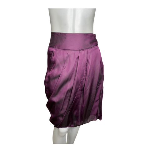 Donna Karan Purple Silk Wrap Skirt Size Medium (8)