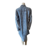 Evidence Dotted Denim Look Shirt Dress Size Extra Large (14)