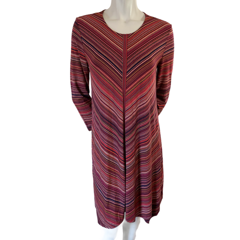 BCBGMaxAzria Multicolour A Line Dress Size Medium (8)
